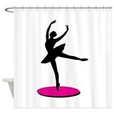 On Toe Ballerina Shower Curtain