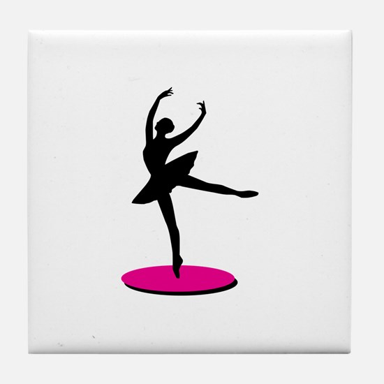 On Toe Ballerina Tile Coaster