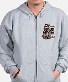 Together we make a Family Cute Raccoon Fun Quote Z