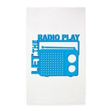 Let the Radio Play 3'x5' Area Rug