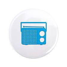 "Blue Radio 3.5"" Button (100 pack)"