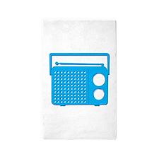 Blue Radio 3'x5' Area Rug