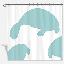 Manatee Shadow Shower Curtain