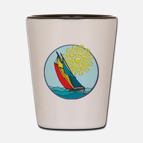 Unique Sailboat Shot Glass