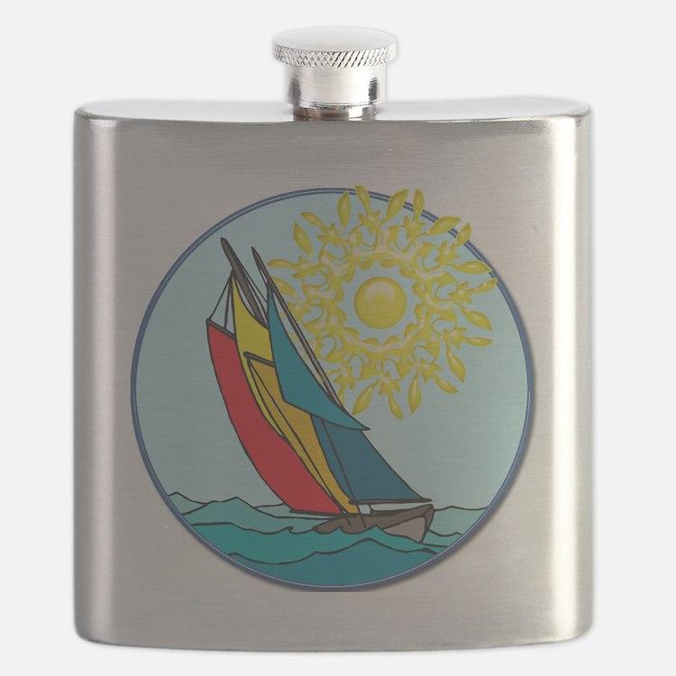 Cute Sailboat Flask