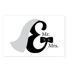 Mr & Mrs Ampersand Postcards (Package of 8)
