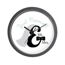 Just married! Wall Clock