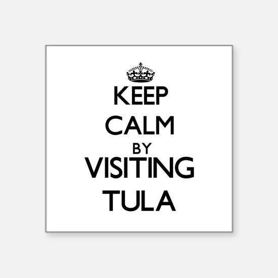 Keep calm by visiting Tula Samoa Sticker