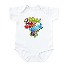 Peace Love Rock Infant Bodysuit