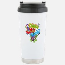 Peace Love Rock Stainless Steel Travel Mug