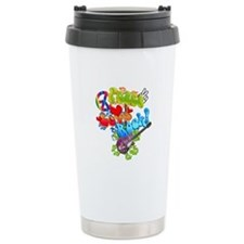 Peace Love Rock Travel Mug