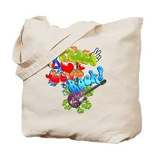 Peace Love Rock Tote Bag