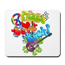 Peace Love Rock Mousepad