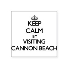Keep calm by visiting Cannon Beach Oregon Sticker