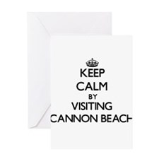 Keep calm by visiting Cannon Beach Oregon Greeting