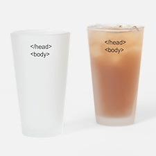 HTML Head Body Pint Glass