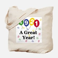 1921 A Great Year Tote Bag