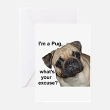 I am a Pug Dog Greeting Cards (Pk of 10)