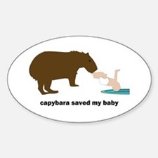 Capybara Hero Oval Decal