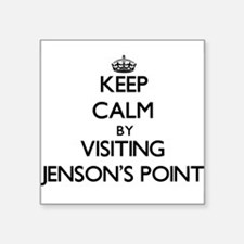 Keep calm by visiting Jenson'S Point Texas Sticker