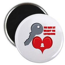 Heart On Lockdown Magnets