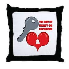 Heart On Lockdown Throw Pillow