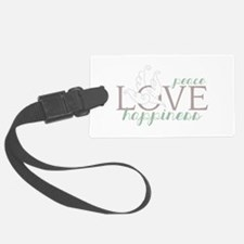 Love Peace Happiness Luggage Tag