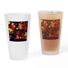 Autumn Leaves Drinking Glass