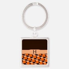 Cubed Diamonds brown Keychains