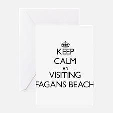 Keep calm by visiting Fagans Beach Hawaii Greeting