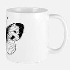 Black and White Butterfly Illustration Mug