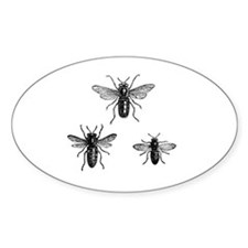 Queen Bee and Working Bees Illustra Decal