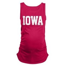 Iowa Jersey White Maternity Tank Top