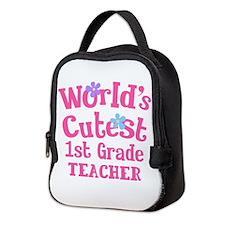 1st Grade Teacher cute Neoprene Lunch Bag