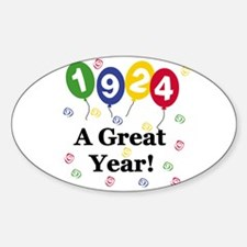 1924 A Great Year Oval Decal