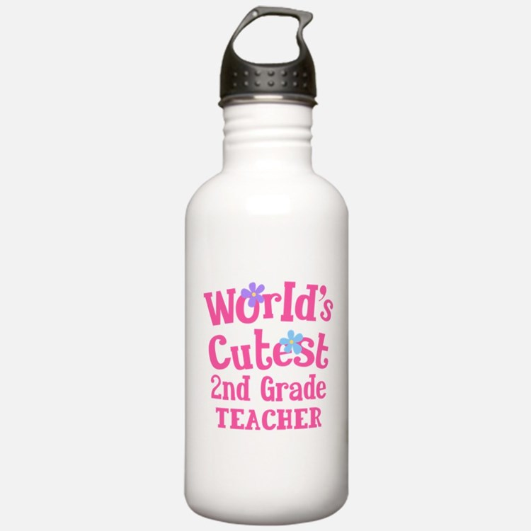 2nd Grade Teacher Water Bottle