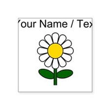 Custom Daisy Flower Sticker