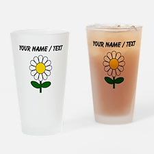 Custom Daisy Flower Drinking Glass