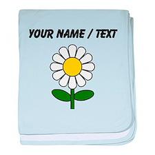 Custom Daisy Flower baby blanket