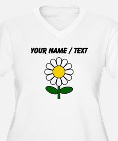 Custom Daisy Flower Plus Size T-Shirt