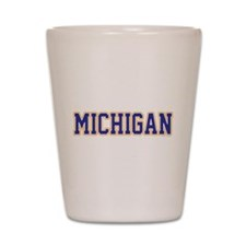 Cute Great lakes state Shot Glass