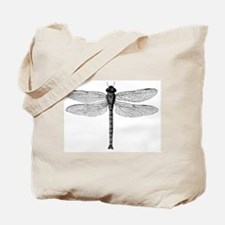 Vintage Dragonfly Illustration Tote Bag