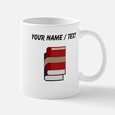 Custom Text Books Mugs