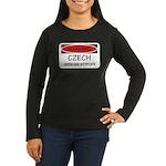 Attitude Czech Women's Long Sleeve Dark T-Shirt