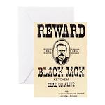 Black Jack Ketchem Greeting Cards (Pk of 10)