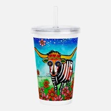 Unique Folk art Acrylic Double-wall Tumbler
