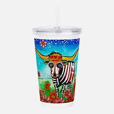 Cute Texas longhorns Acrylic Double-wall Tumbler