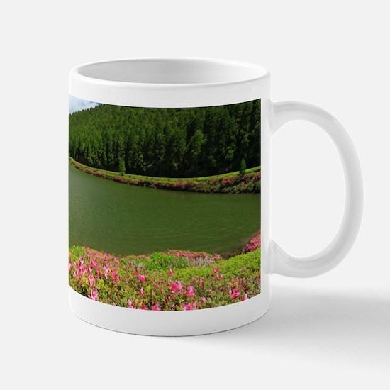 Lake and azaleas Mugs