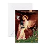 Angel (#1) & Schipperke Greeting Cards (Pk of 10)