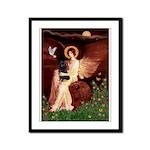 Angel (#1) & Schipperke Framed Panel Print